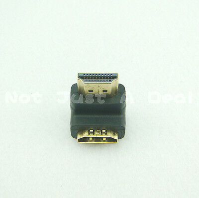 HDMI 90 degree Adapter Female to Male 1080p for 3D HDTV PS3 DVD XBOX New