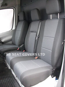 mercedes sprinter van seat covers 2012 model made to measure merc anthracite ebay. Black Bedroom Furniture Sets. Home Design Ideas
