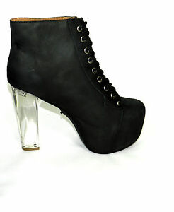 jeffrey cbell lita light up clear heel distressed black
