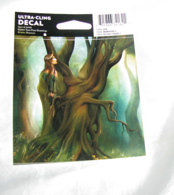 Spirit Watch Decal Ultra Cling Window Sticker Wicca Pagan