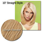 """Ginger 10"""" HairDo Clip In Straight Hair Extensions Jessica Simpson Blonde"""