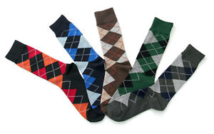 MEN-LORDS-ARGYLE-PATTERN-DRESS-SOCKS-CASUAL-SOCKS-SIZE-8-12