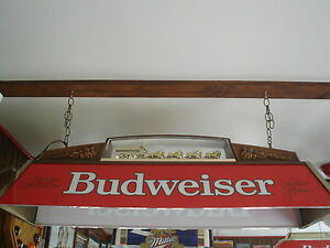 BUDWEISER-WITH-CLYDESDALES-POOL-TABLE-LIGHT-VINTAGE-TO-BE-DELETED-IN-7-DAYS