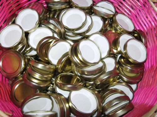 TWIST OFF Einkochdeckel-Schraubglasdeckel TO 100; Alu gold; NEU 0,40€//Stück