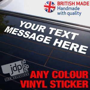 034-YOUR-TEXT-MESSAGE-034-CUSTOM-VINYL-CAR-STICKER-ANY-COLOUR-FUNNY-JDM-EURO