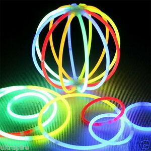 100PCS-Various-Colors-Glow-Stick-Light-Bracelet-Night-Party-Birthday-Toy-Fun-J