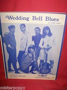 THE-FIFTH-DIMENSION-Wedding-bell-blues-1966-AUSTRALIA-Spartito-Sheet-Music