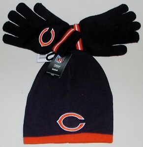 chicago bears nfl team apparel winter gloves hat set kids. Black Bedroom Furniture Sets. Home Design Ideas