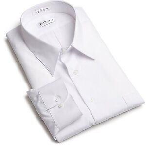 Men-White-Van-Heusen-Wrinkle-Free-Classic-Fit-DRESS-SHIRT-Standard-Cuff-NWT