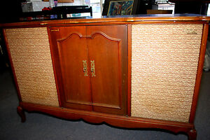 Vtg. Fisher 600 Stereo Tube Receiver AM/FM Radio Cabinet w ...