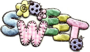 034-SWEET-034-W-LADYBUGS-GINGHAM-EMBROIDERED-IRON-ON-APPLIQUE-PASTELS