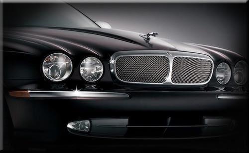 Jaguar X350 (XJ) radiator Grilles, Stainless Steel mesh grille inserts