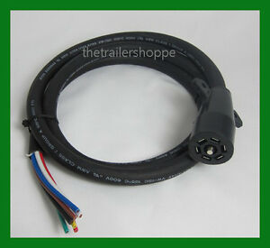 Universal-Molded-Trailer-Light-Plug-Wiring-Harness-7-Way-RV-6-039-Cord-Trailer-end