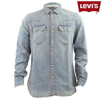 Brand New Mens Levis Sawtooth Western Slim Fit Denim Shirt
