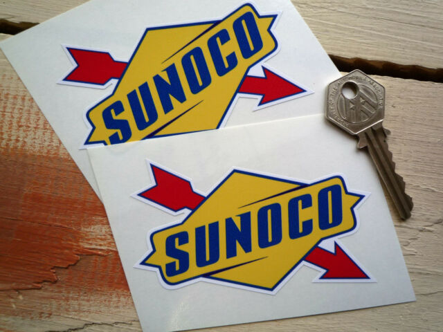 Small SUNOCO later style Racing classic Auto Stickers