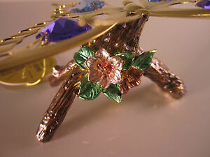 Butterfly-with-Swarovski-Crystals-Fitted-Gold-Plated-NEW-Butterfly