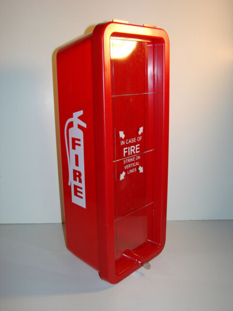 RED FIRETECH FT10P HEAVY DUTY PLASTIC FIRE EXTINGUISHER CABINET 10#