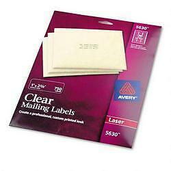 avery dennison ave 5630 easy peel mailing label 1 width x 2 62