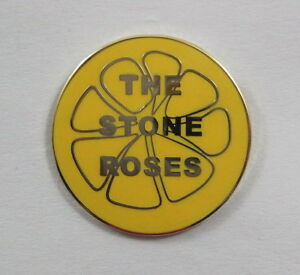 Stone-Roses-039-Lemon-039-Enamel-Badge-Ian-Brown-Primal-Scream-Pretty-Green-Oasis-Mod
