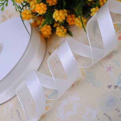 "1"" 25mm satin/organza ribbon appliques wedding decoration craft Lots color Upick"