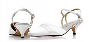Satén color marfil Bridal Dama Boda Zapatos Tamaños 5-9 por P & p Estilo De Verano