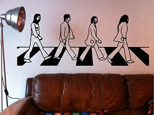 The beatles abbey road wall art quote sticker vinyl lounge for Beatles abbey road wall mural