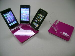 LOT-5-NEW-STAND-HOLDER-CELL-PHONE-DISPLAY-3-in-1-HOT-PINK