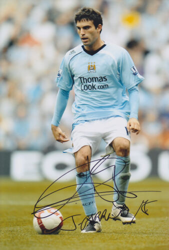 Manchester City F.C Javier Garrido Hand Signed Photo 12x8.