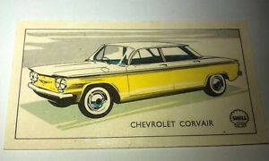 1960 CHEVROLET CORVAIR Shell Oil NZ Collector CARD
