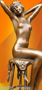 SUPERB-ART-DECO-BRONZE-034-AWAKENING-034-SIGNED-D-H-Chiparus-STATUE-FIGURE-SCULPTURE