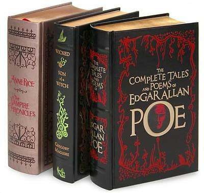ANNE RICE VAMPIRE CHRONICLES ~ COMPLETE POE ~ WICKED ~ 3 LEATHER BOOK GIFT SET
