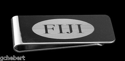 Fraternity Greek Letter Silver Plate Money Clip NEW with  Box