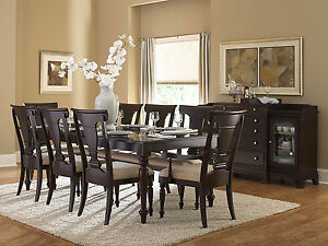 EDISON-7pcs-TRADITIONAL-RECTANGULAR-DINING-ROOM-TABLE-amp-CHAIRS-SET-FURNITURE
