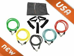 5-Resistance-Exercise-Bands-use-for-P90x-Gym-Abs-Bicep-Yoga-Safe-Home-Fitness