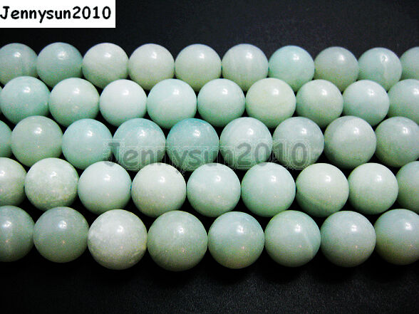 Natural Amazonite Gemstone Round Loose Beads 16'' 2mm 3mm 4mm 6mm 8mm 10mm 12mm
