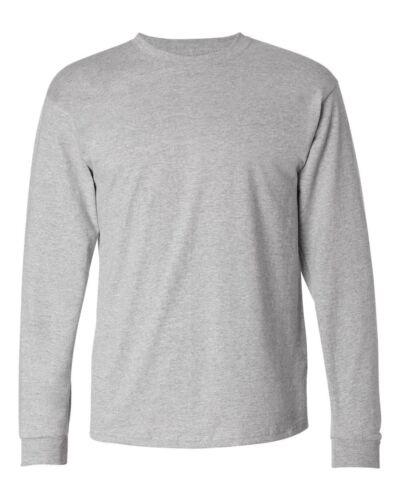 Hanes Brand NEW 6 oz 100/% Cotton Long Sleeve T-Shirt Mens S-3XL Tagless Tee