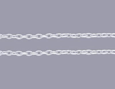 A 92 Meter Roll of Silver Plated Very Fine Trace Chain  J1405vf