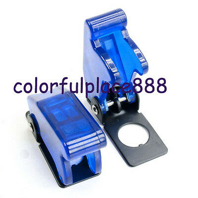 2pcs, Blue Safety Flip Cover for Toggle Switch