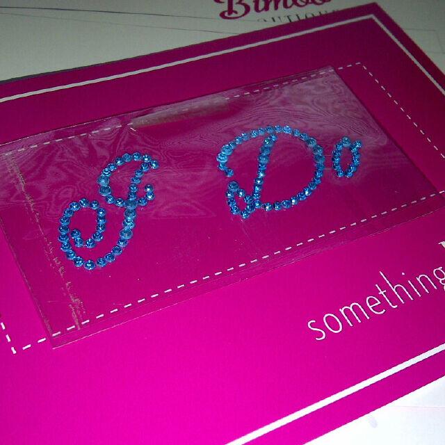 I Do Diamante / Rhinestone  Shoe Applique Sticker Something Blue Wedding Crystal