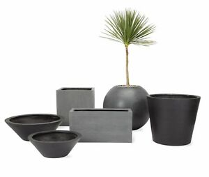 Avalon-Dish-Planter-LARGE-Modern-DWR-Design-Within-Reach-Garden-Outdoor-NEW