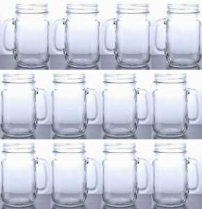 rustic bridal wedding mason jars with handles wholesale lot set 5 cases 60 jars. Black Bedroom Furniture Sets. Home Design Ideas