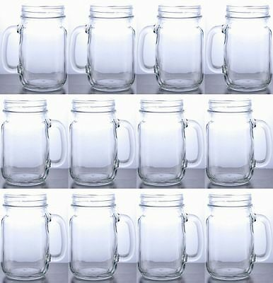 Rustic Bridal Wedding Mason Jars with Handles Wholesale Lot Set 5 Cases 60 Jars