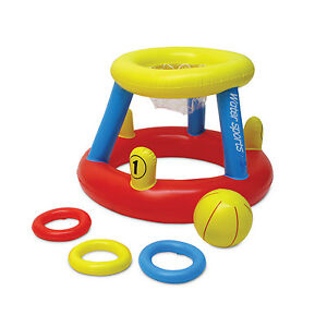 Poolmaster-86189-Basketball-Ring-Toss-Floating-Inflatable-Game-Pool-Lake-Patio