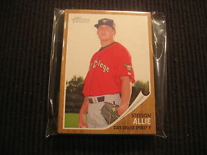 10-2011-TOPPS-HERITAGE-MINOR-2-STETSON-ALLIE-RC-LOT-STATE-COLLEGE-SPIKES