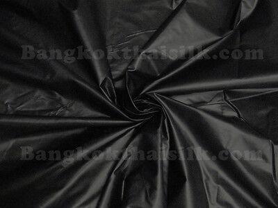 10 YARDS BLACK POLISHED 100% COTTON SHINY FABRIC DRAPE DRESS SKIRT CRAFT FREE SH