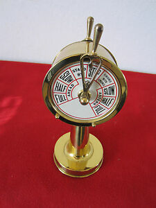 NAUTICAL PAPER WEIGHT, SHIP'S BRASS MODEL OF TELEGRAPH
