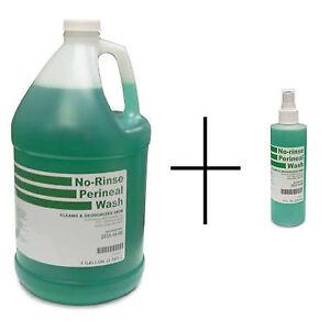 Perineal-Wash-Liquid-No-Rinse-8-oz-Spray-1-Gallon-Bottle-Moisturize-Clean