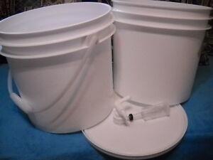 3-5-gallon-fermenting-brewing-bottling-homebrew-beer-wine-buckets-food-grade-KIT