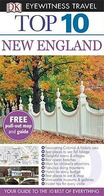 """AS NEW"" DK, DK Eyewitness Top 10 Travel Guide: New England, Paperback Book"