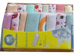 8Pack-Baby-Soft-Bath-Towel-Washcloth-Wipe-handkerchief-Knit-Terry-Kerchief-9-034-x9-034